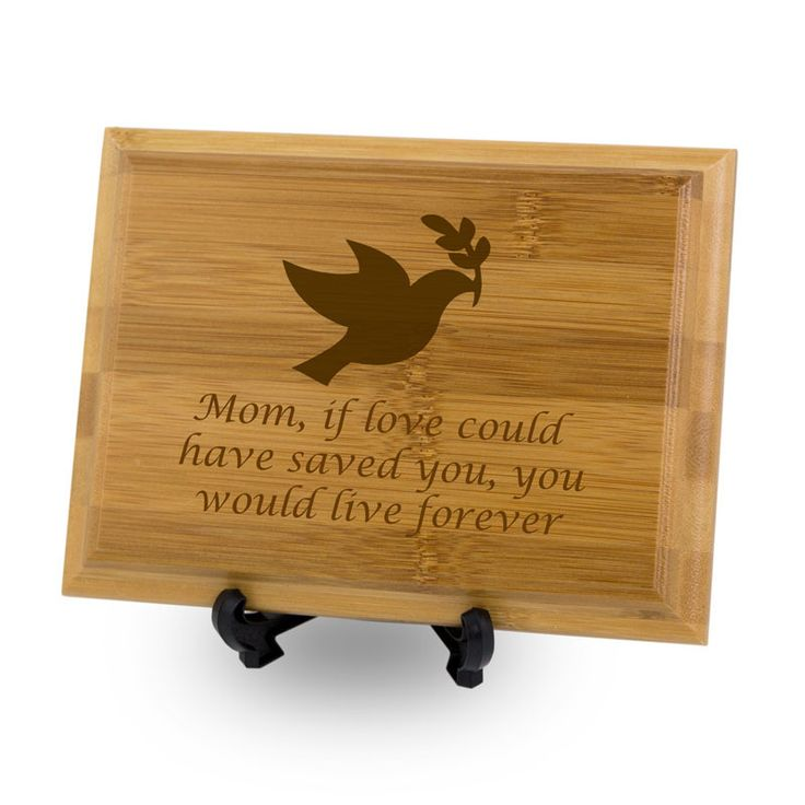 Personalized Bamboo Memorial Plaque