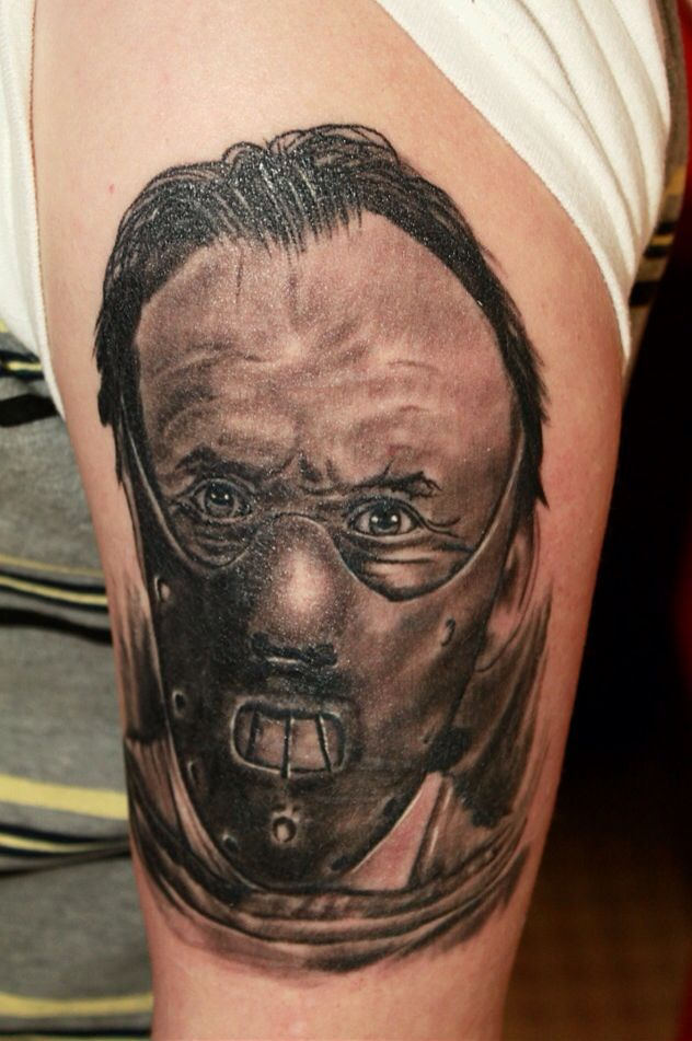 Silence of the lambs hannibal lecter ashs tattoo for Tattoo studio warrington