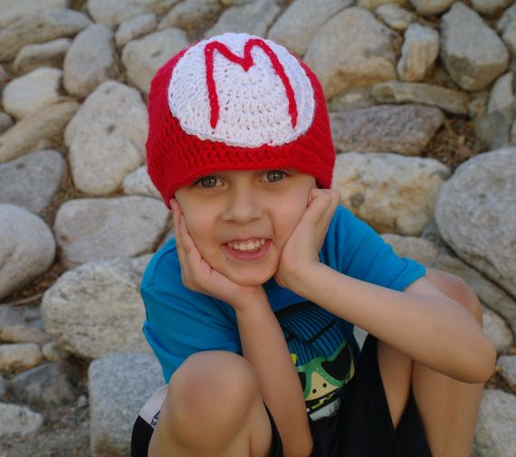 Mario Beanie Adult size by MyEpicYarn on Etsy, $15.00