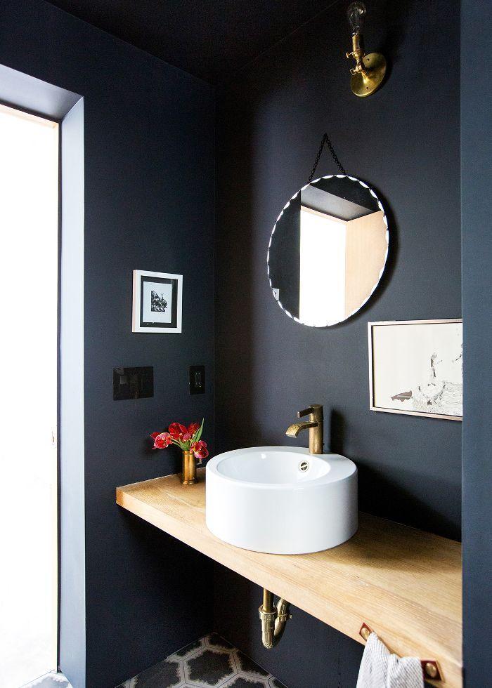 Blue Bathroom Bin