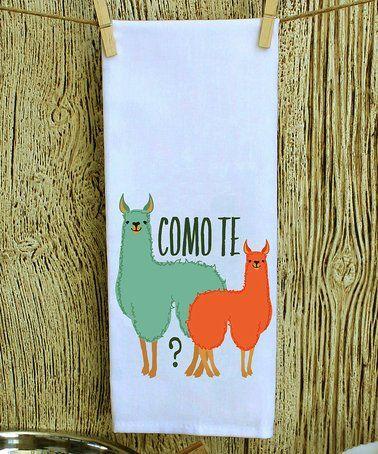 Look what I found on #zulily! 'Como Te Llamas' Towel #zulilyfinds