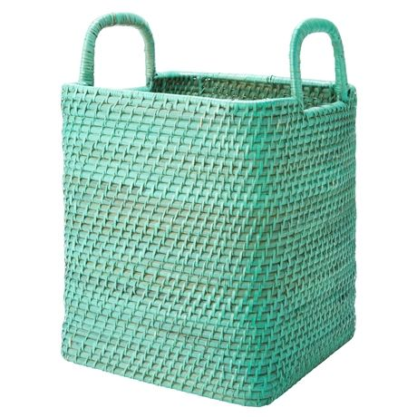 Nito Tall Basket with Handle Small