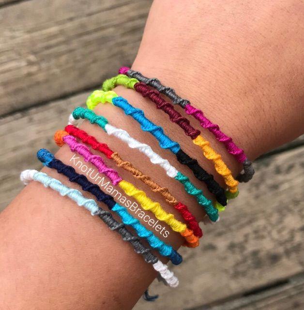 Custom Chinese staircase bracelets! Knoturmamasbracelets on etsy