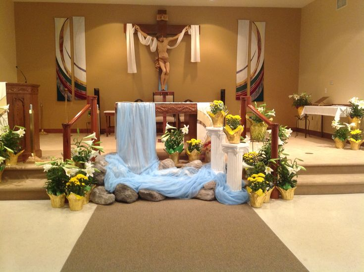 96 best images about church decor on pinterest for Altar decoration ideas