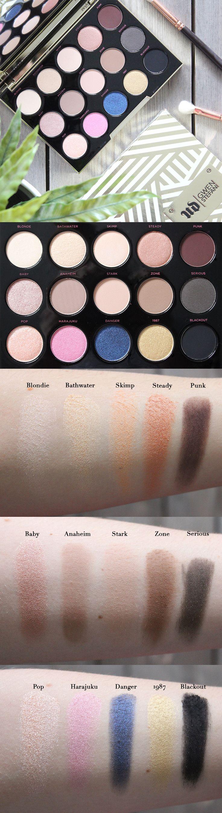 Urban Decay Gwen Stefani Eyeshadow Palette | Review & Swatches.
