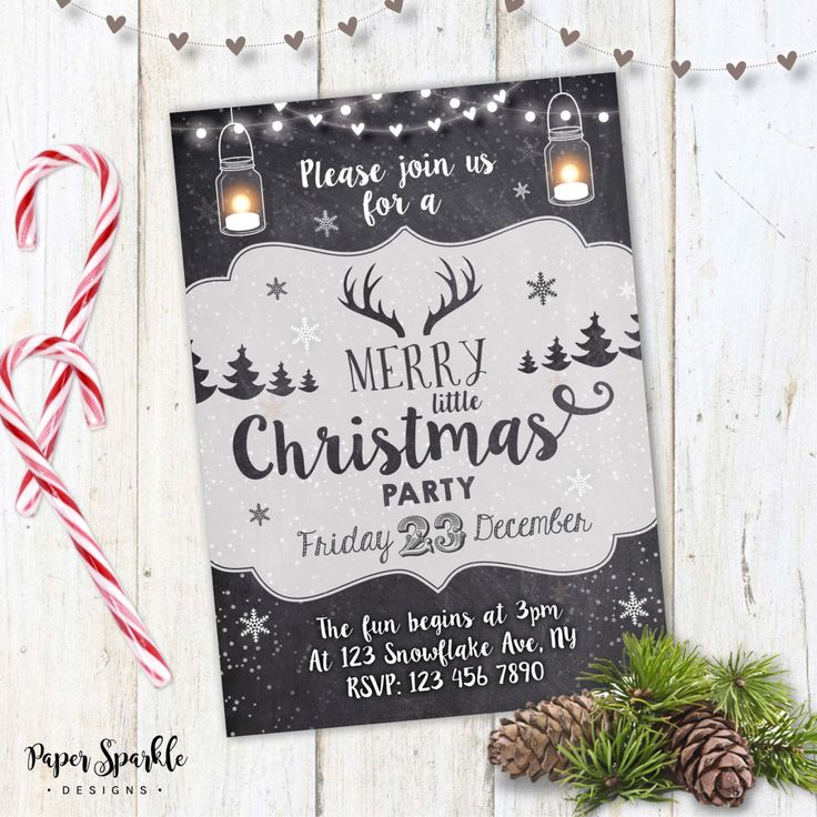 21 best Christmas invitations images on Pinterest Primitive