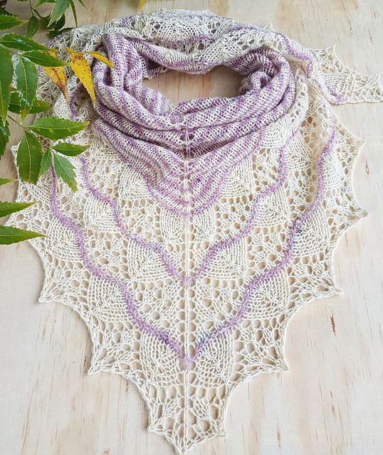 Melania Shawl pattern by Irina Lyubaeva