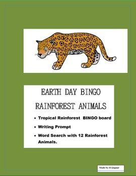 This Tropical Rainforest BINGO features 12 of the most beloved Rainforest Animals . This package is very helpful to celebrate Earth Day in your classroom.