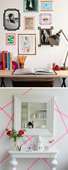 Diy: Crear marcos de fotos con masking tape : x4duros.com