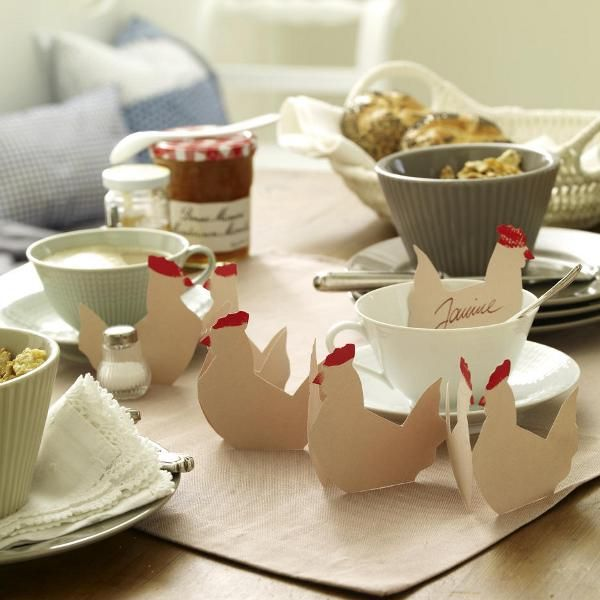 Cute chicken place cards