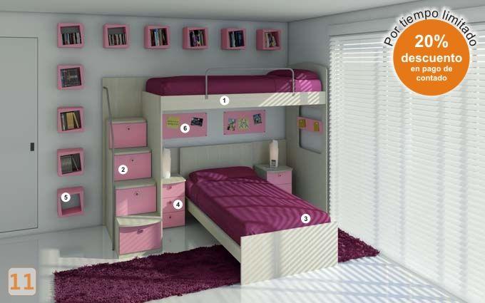 17 mejores ideas sobre camas marineras en pinterest for Camas nidos para ninas