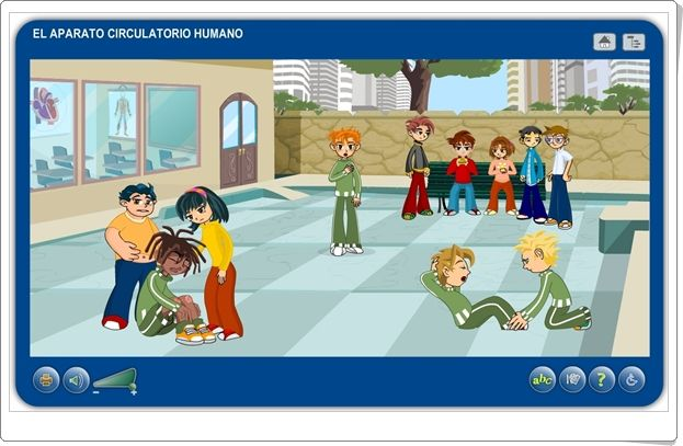 """""""El aparato circulatorio humano"""" (Aplicación interactiva de Ciencias Naturales de Primaria)"""