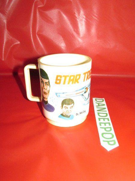 Vintage 1975 Star Trek Paramount Pictures Corp Deka 269 Plastic mug #StarTrek #Deka #1979 #Mug #Collectible #dandeepop