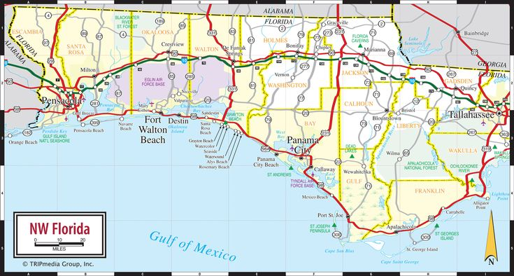 map of florida panhandle | Add this Map to Your Site | Print Map as a PDF