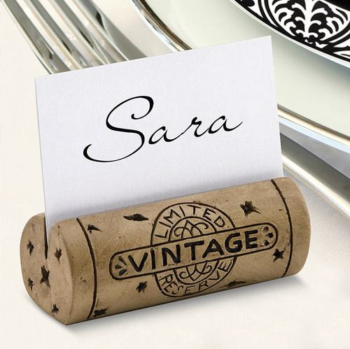 These Cork Place Card Holders are authentic looking wine cork place card holders- perfect for weddings or other large gatherings. The Got Cork Place Card Holdercaptures the essence of any wine lover                                                                                                                                                                                 More