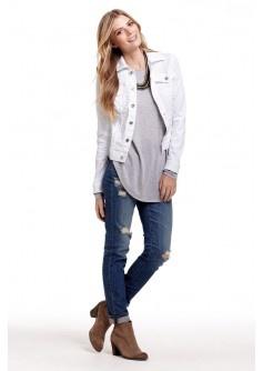 Best 20  White denim jackets ideas on Pinterest | Black white hair ...