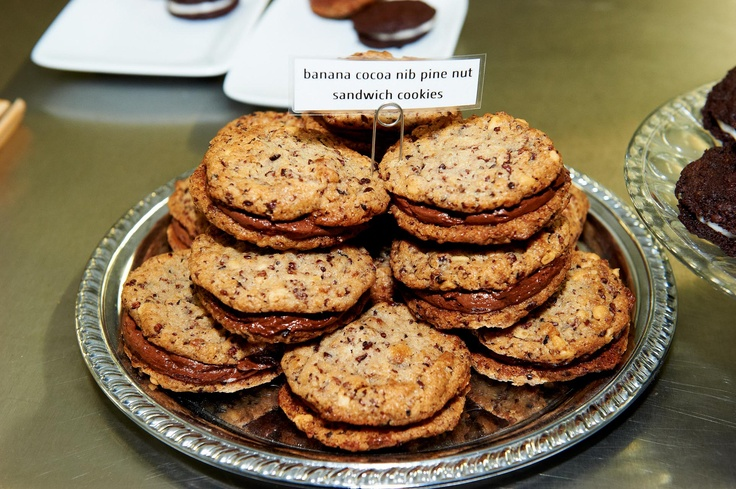 SCHARFFEN BERGER Banana Cacao Nib Pine Nut Cookies by Christina Tosi, The Chocolate Adventure Contest 2012—Sandwich Cookie Edition.