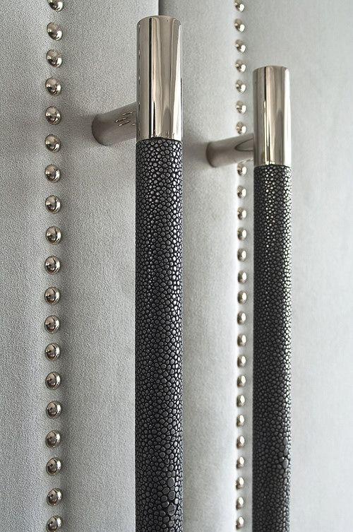 Luxury Handles to add impact | Interior Design London //luxuryhandles //shagreenhandles