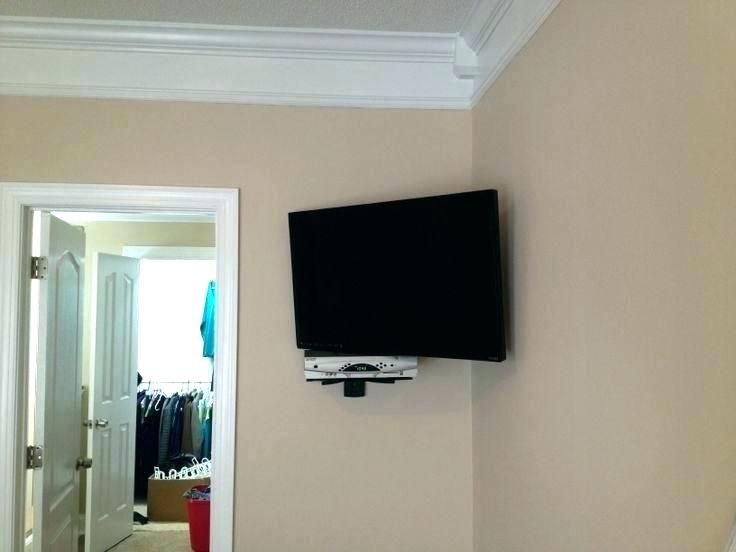 Hanging A Flatscreen Tv Hanging A Flat Screen From The Ceiling Ceiling Mount With Shelf Wide S Wall Mounted Shelves Wall Mounted Tv Wall Mounted Corner Shelves
