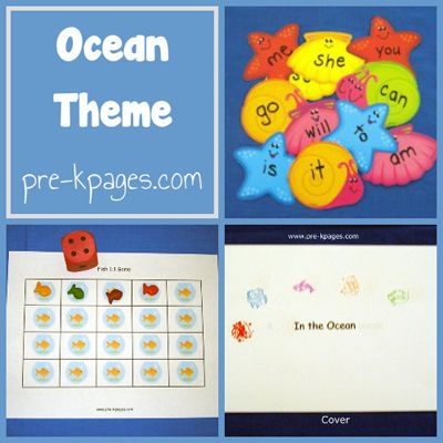 Ocean theme ideas for literacy, math and more via www.pre-kpages.com #preschool #kindergarten