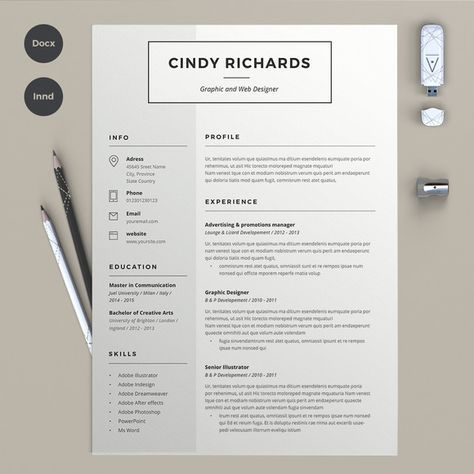 Resume Cindy (2 pages) by @Graphicsauthor
