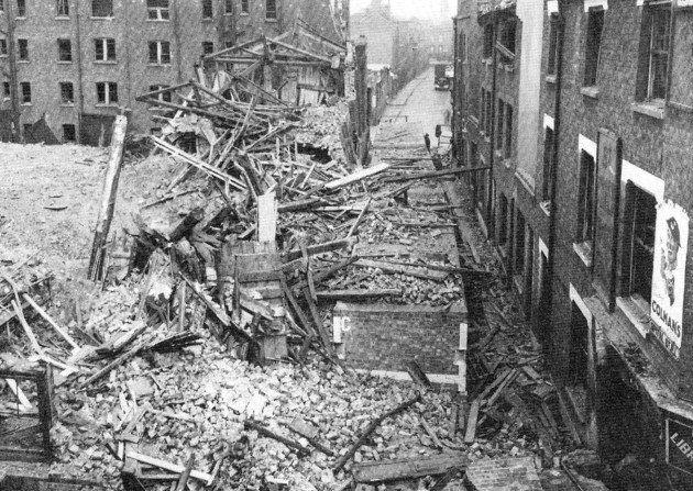 Bomb Damage To Spital Street Spitalfields 1940 London Blitz