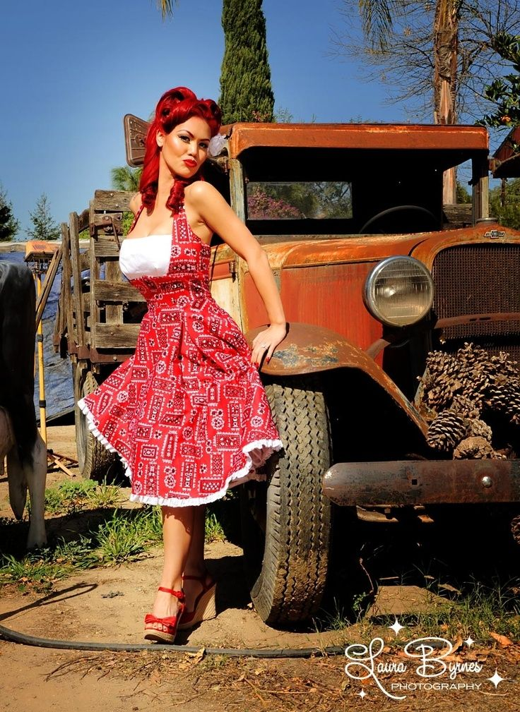 Pin Up Dress And Cowboy Boots Google Search Wedding