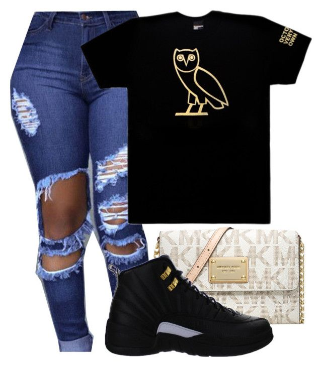 """Ovo hoe"" by zayani ❤ liked on Polyvore featuring October's Very Own, MICHAEL Michael Kors and NIKE"