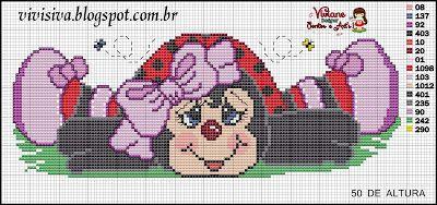 Viviane Pontos e Art's: Grafico de Joaninha grande