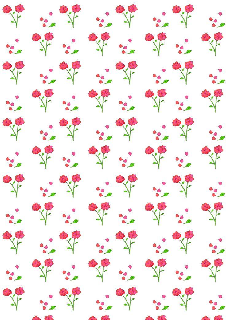 MeinLilaPark – DIY printables and downloads: Free digital rose scrapbooking paper - ausdruckbares Geschenkpapier - freebie