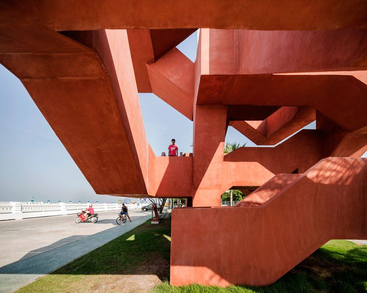 Built by Supermachine Studio in Tambon Saen Suk, Thailand with date 2014. Images by Wison Tungthunya. The project is part of the celebration of Siam Cement Group (SCG), the biggest construction materials producer in Tha...