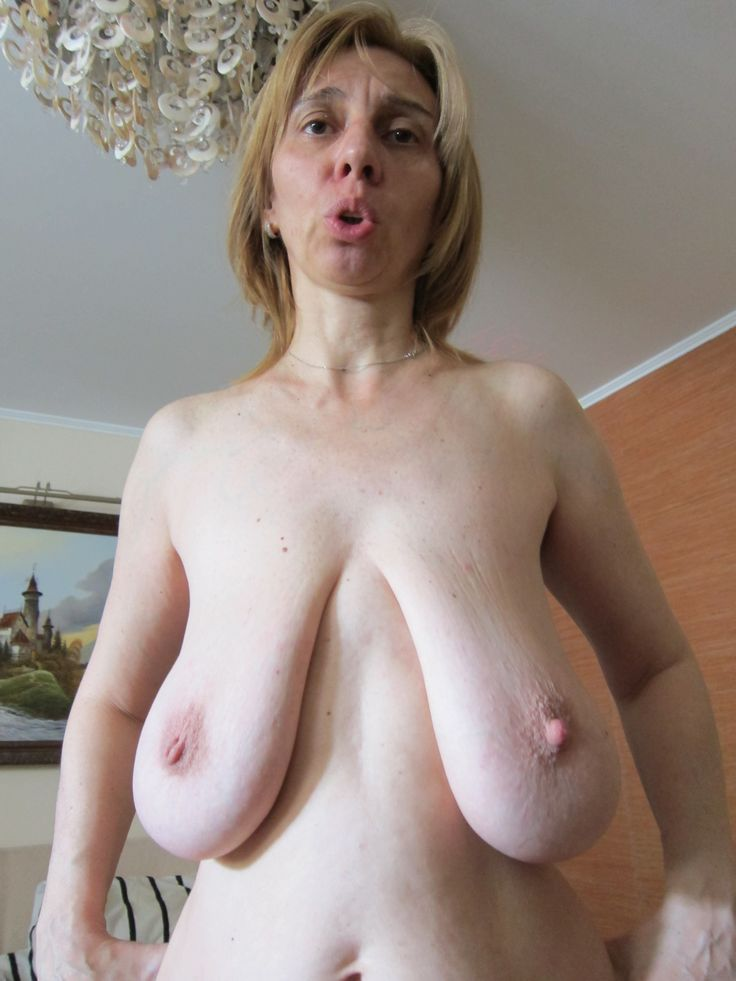 Nude grannys very saggy boobs