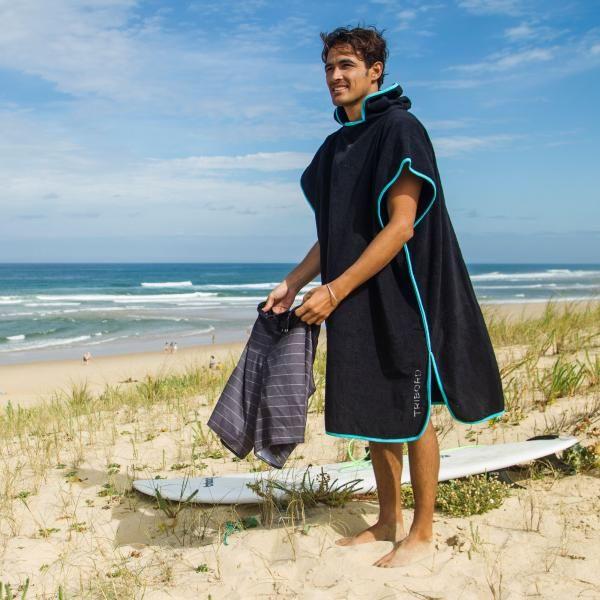 Ad SURF PONCHO - Black Blue