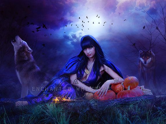 Beautiful Witch print Witch art Wiccan art by EnchantedWhispersArt