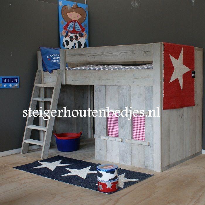 Cowboykamer Steigerhout http://www.steigerhoutenbedjes.nl/kinderbed-steigerhout