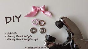 sticKUHlinchen: DIY Schleife mit der Gabel binden und mit Jersey Drucknöpfen zum süßen Accessoires gestalten !