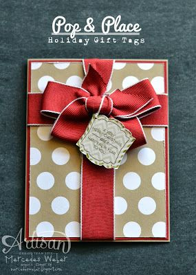 """Lovely Polka Dot """"Gift"""" Card & Tag...Mercedes Weber:  Creations by Mercedes."""
