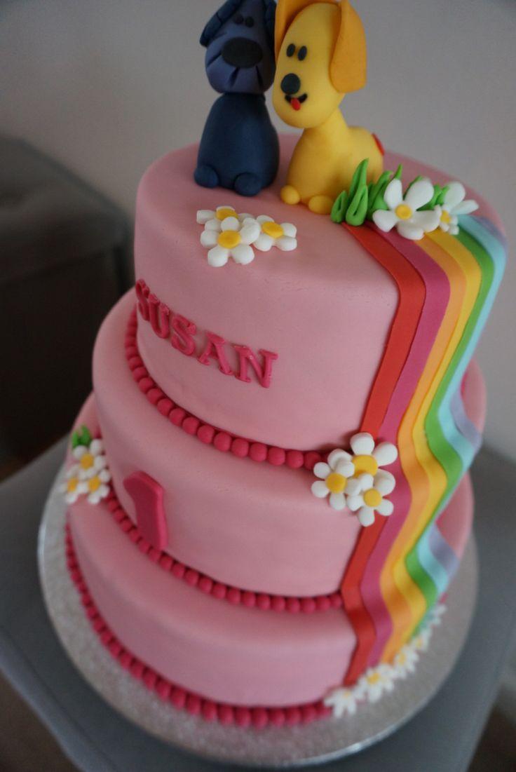 Woezel en pip taart - regenboog Rainbow Susan 1 jaar