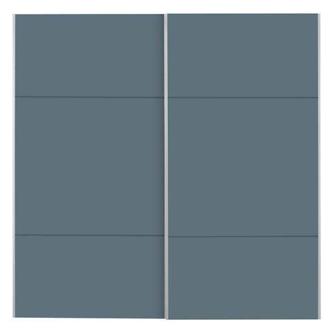Lot de 2 portes coulissantes bleu cobalt 200cm Bleu cobalt - Karma - Les armoires à composer - Les armoires et penderies - Chambre - Décoration d'intérieur - Alinéa