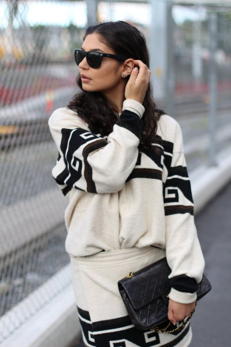 outfit from my blog. Isabel Marant skirt Isabel Marant sweater aw2016 chanel handbag rayban sunglasses