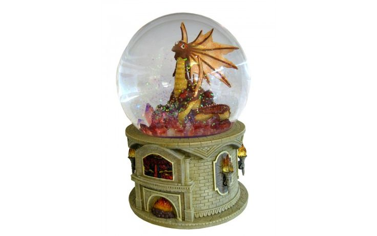 Dimension: 120 mm. Fonction: musique, rotation et brillants.  Mélodie: Flamme éternelle. Base de résine et globe de verre.