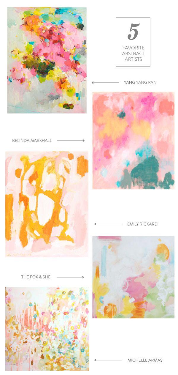 five favorite abstract artists || www.emformarvelous.com