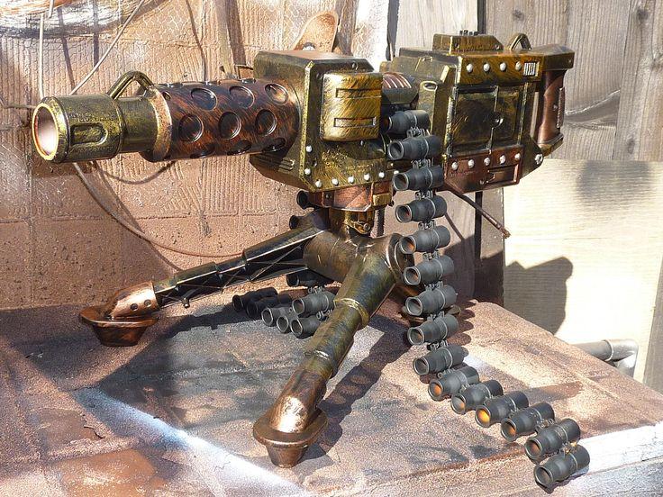 FullyAutomatic STEAMPUNK Nerf type Machine Dart Gun by SteamPunkLabratory.  Shoots 3 darts per second!!!!!!