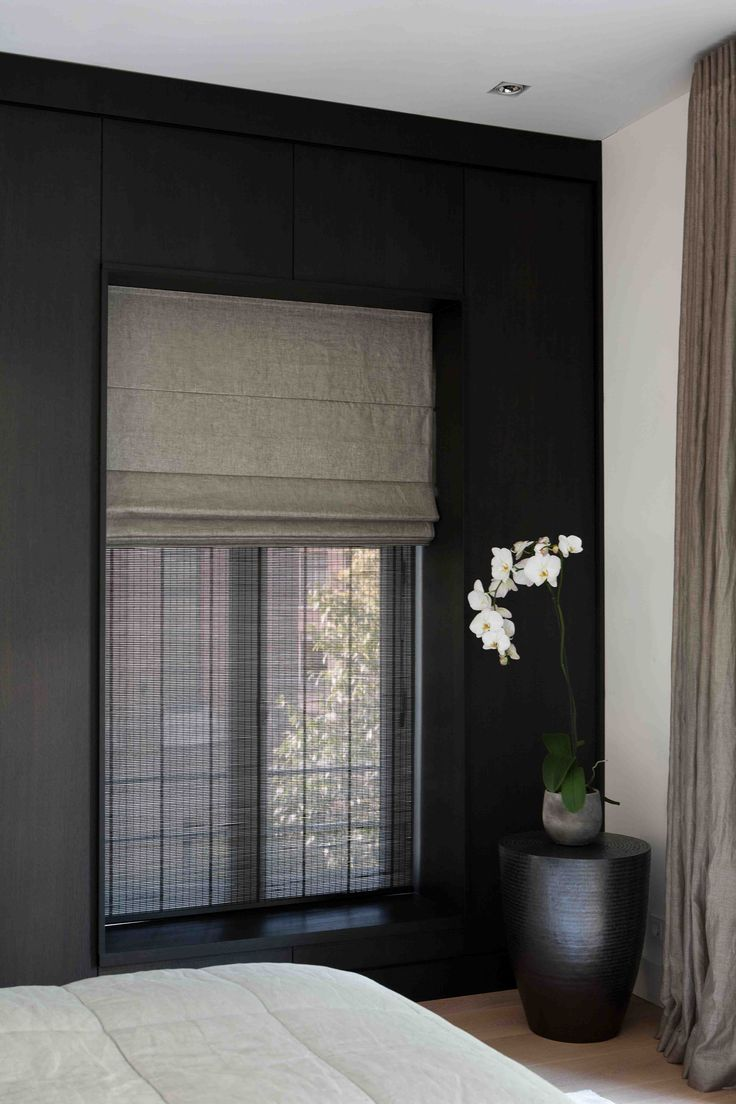 vouwgordijnen (linnen met bamboe)