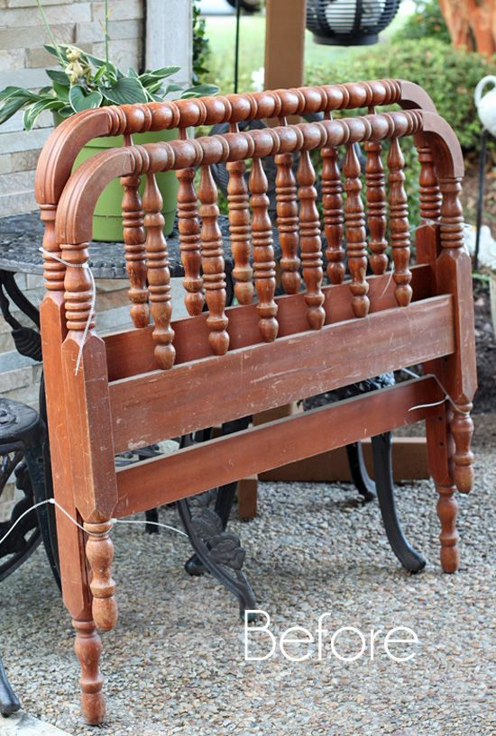 How to turn a Spindle Headboard into a Bench | Confessions of a Serial Do-it-Yourselfer