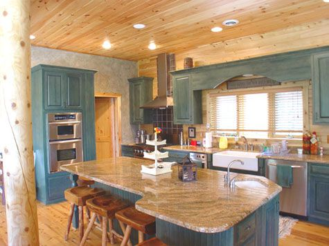 Affordable Luxury Log Home Gallery Featured Interiors