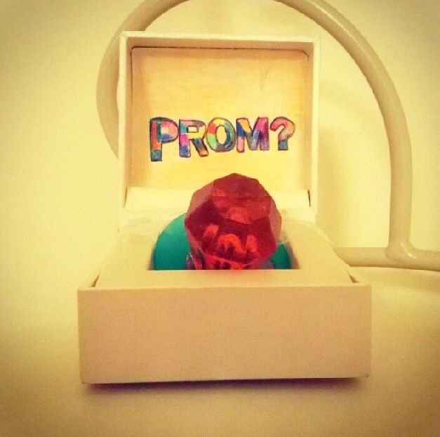 Ring Pop proposal for prom! Too Cute!