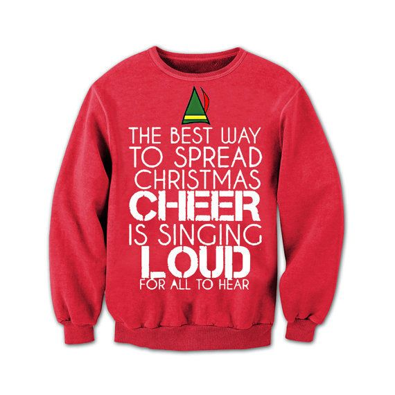 Hey, I found this really awesome Etsy listing at https://www.etsy.com/listing/212285071/buddy-the-elf-sweater-buddy-the-elf-ugly