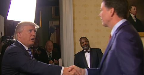 Trump comes face to face with James Comey and surprises everyone