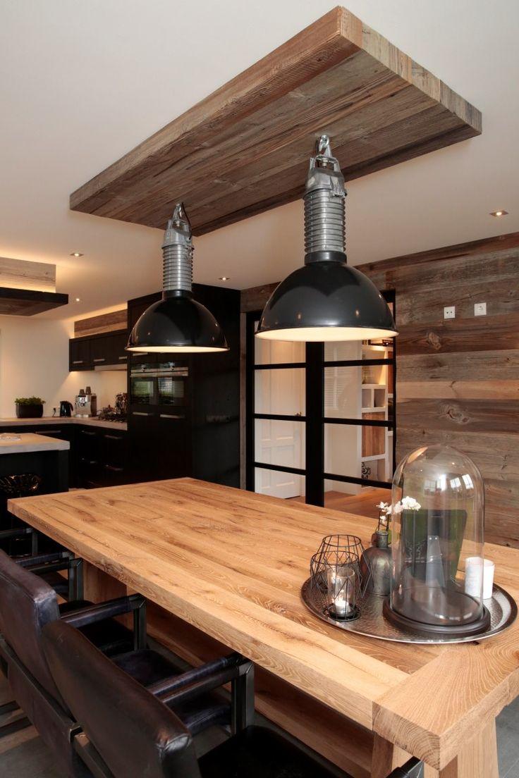 Grijze Keuken Zwart Blad : www.nice-id.nl, Oud eiken keuken zwart gespoten met gesmeerd blad